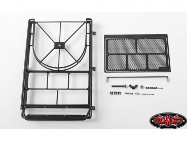 CCHand Krabs Roof Rack w/Spare Tire Mount for Axial SCX10 II XJ (Black)