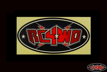 RC4WD Monster Size Logo Decal Red