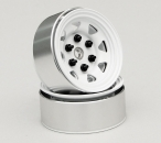 "RC4WD Stamped Steel 1.55"" Stock White Beadlock Wheel (4 Stück)"